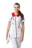 Beautiful nurse in medical gown Royalty Free Stock Images