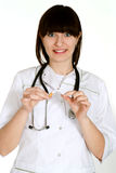 Beautiful nurse stands Stock Photography
