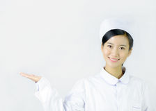 Beautiful nurse on a white isolated background Stock Photos