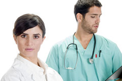 Beautiful Nurse With Handsome Doctor Royalty Free Stock Images