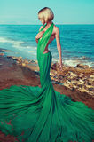 Beautiful nymph on the sea. Beautiful nymph on the ocean. Fashion photo Stock Photography