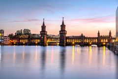 The beautiful Oberbaubruecke over the river Spree Royalty Free Stock Image
