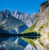 The beautiful Obersee lake in Germany Stock Images