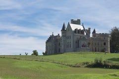 Beautiful observatory castle abbadia in hendaye on atlantic coast in blue sky Stock Image