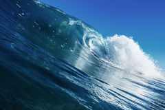 Beautiful Ocean Background Big Shorebreak Wave for Surfin. G. Hawaiian swell for sport activity. Power and Energy Of Nature Royalty Free Stock Image