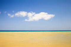 Beautiful ocean beach. On Canary islands Stock Images