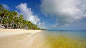 Beautiful ocean beach in dominican republic stock video footage
