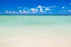 Beautiful ocean beach. On Maldives Royalty Free Stock Photo