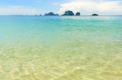 The beautiful ocean. With blue and green color Royalty Free Stock Photo