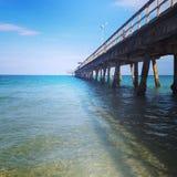 Beautiful Ocean Boardwalk Stock Images