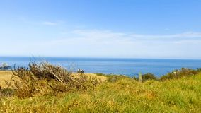Beautiful ocean coastline aerial view.  Royalty Free Stock Photos