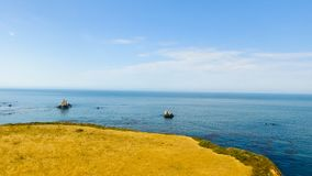 Beautiful ocean coastline aerial view.  Royalty Free Stock Photography
