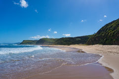 Beautiful ocean coastline with Garie beach and green hills. Aust. Beautiful ocean coastline with beach and green hills. Garie beach, Australia Stock Images