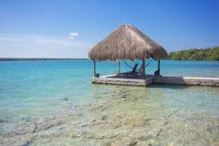 Beautiful ocean dock at a tropical island destination Stock Image