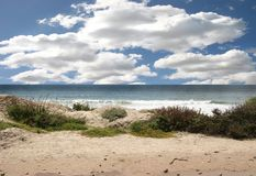 Beautiful Ocean Landscape With Bright Sky Royalty Free Stock Photos