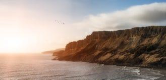 Beautiful ocean landscape image during stunning sunset Royalty Free Stock Image