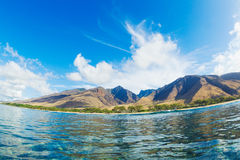 Beautiful Ocean and Mountains Royalty Free Stock Images