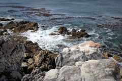 Ocean and coast landscape in Hermanus, South Africa Royalty Free Stock Photography
