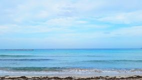 A beautiful ocean scene in Europe. Stock Photo