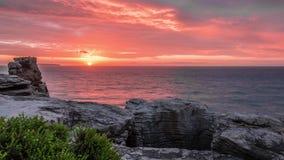 Beautiful Ocean Sunrise Timelapse 4k stock video footage