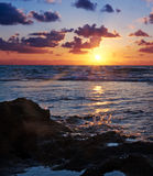 Beautiful ocean sunset Royalty Free Stock Photography