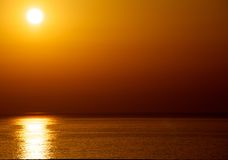 Beautiful ocean view. Picture of a ocean evening view Stock Photo