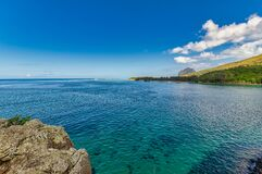 The beautiful ocean view from the Captain Matthew Flinders Monument in Mauritius.