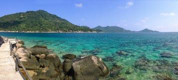 Beautiful ocean view in Koh Nang Yuan island Thailand. Koh Nang Yuan, Thailand - Jul, 2016: Koh Nang Yuan Island view royalty free stock images