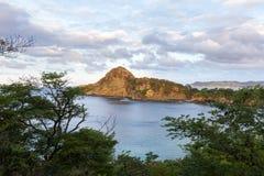 Beautiful ocean view. Section of Playa redonda in Nicaragua viewed thru the jungle canopy Stock Photos
