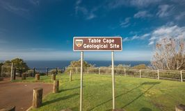 Beautiful ocean view from the Table Cape in Tasmania royalty free stock photo