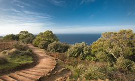 Beautiful ocean view from the Table Cape in Tasmania stock photos