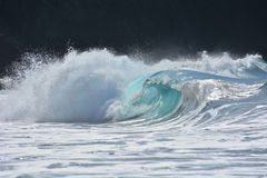 Beautiful ocean swell. Ground swell on Canary islands Royalty Free Stock Photos