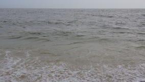 Beautiful ocean wave breaking at sunset in slow motion. Summer ocean waves hd stock video