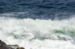 Beautiful Ocean Waves Smashing Against Rockport, MA Coast Stock Photography