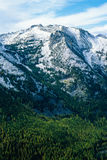 Beautiful October Mountain peak Dusted in Fresh White Snow Royalty Free Stock Image