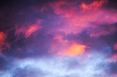 Colorful clouds in the sky Stock Photos