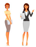 Beautiful office or business women Royalty Free Stock Images