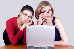 Beautiful office girls Royalty Free Stock Photos