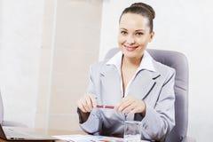 Beautiful office manager Stock Photos