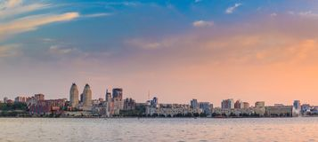 Beautiful and office skyscrapers,night view city building Dnipro Ukraine Royalty Free Stock Image