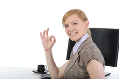 Beautiful office worker. Royalty Free Stock Photo