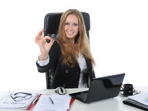 Beautiful office worker. Royalty Free Stock Images