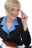 Beautiful office worker. Stock Images