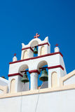 Beautiful Oia, church in Santorini island Royalty Free Stock Images