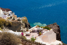 Beautiful Oia in Santorini island Royalty Free Stock Image