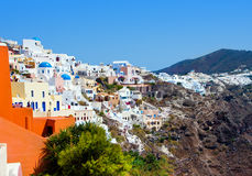 Beautiful Oia in Santorini island Royalty Free Stock Images