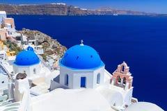 Beautiful Oia town on Santorini island Stock Photo