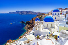 Beautiful Oia town on Santorini island Royalty Free Stock Photography