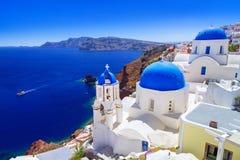 Beautiful Oia town on Santorini island. Greece Royalty Free Stock Photos