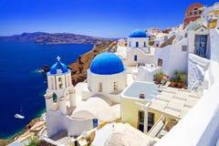 Beautiful Oia town on Santorini island. Greece Royalty Free Stock Photo